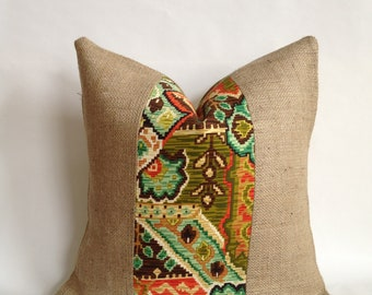Aramingo-Veranda indoor/Outdoor Fabric & Burlap Pillow Cover