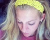 Yellow - Thin Lace Headband