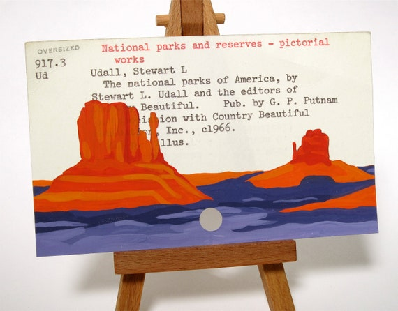 Monument Valley painted on library card
