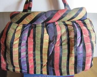 1930s Silk Purse, Silk, Purse, 1930s, Striped, Handbag, Vintage Purse, P0uch