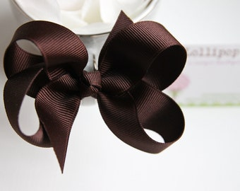 Brown Hair Bow Hair Clip Kids Hair Bow Girls Hair Bow Toddler Hair Bow Baby Hair Bow