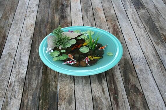 Miniature koi pond in resin custom made item for Custom koi ponds