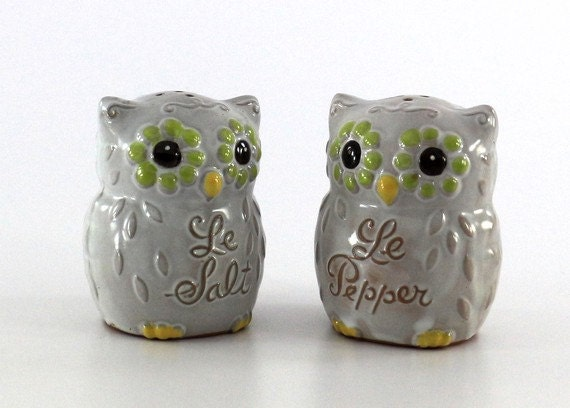Cute Owl Salt And Pepper Shakers Japanese