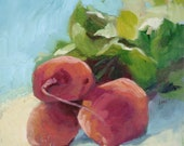 Kitchen Still Life Oil Painting of Red Beets 8 x 8