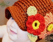 Annamari in Autumn Newsboy Hat for Baby Girls