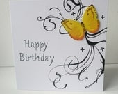 Happy birthday Card, Butterfly Design