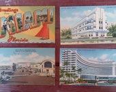 Vintage Miami Postcards, Miami / South Beach Souvenir Postcards