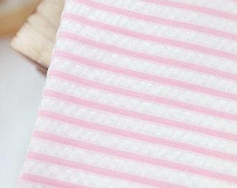Pink Stripes Ripple Seersucker (3 mm) per Yard 22734