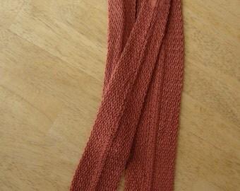 Vintage Square End Rayon Crochet Necktie