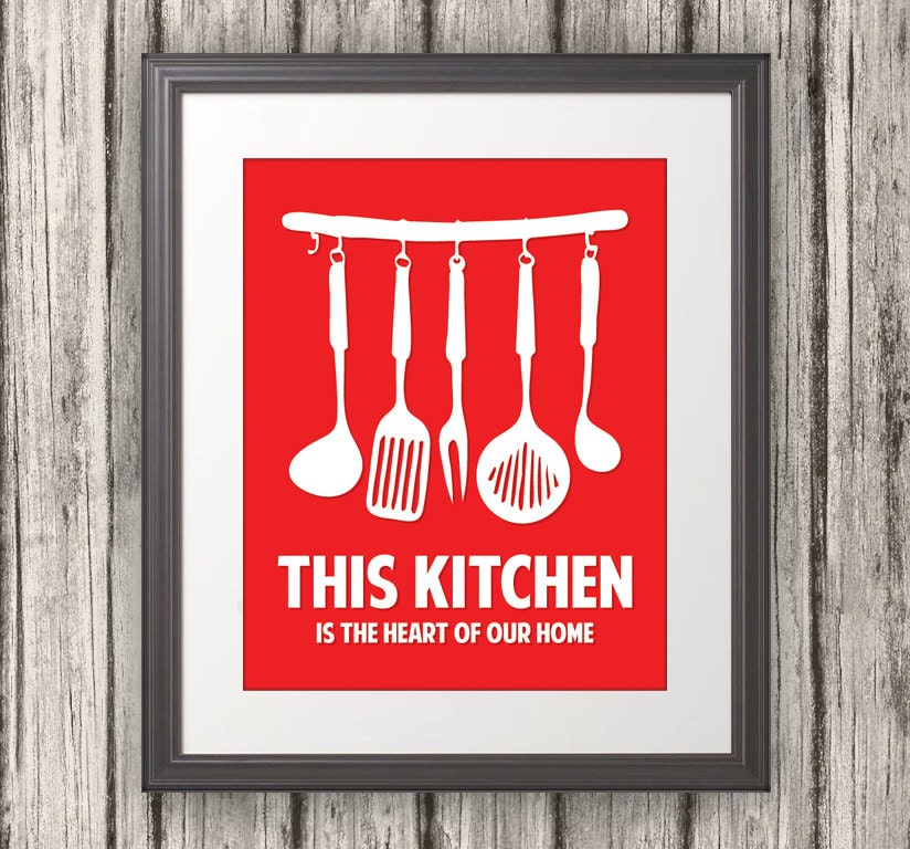 This Kitchen Is The Heart Of Our Home Kitchen Print Kitchen