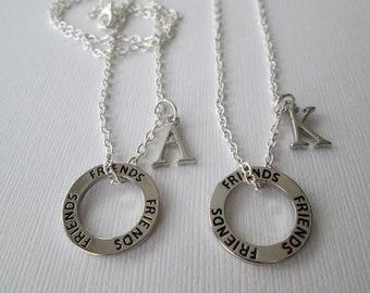 2 Friends Initial Necklaces.