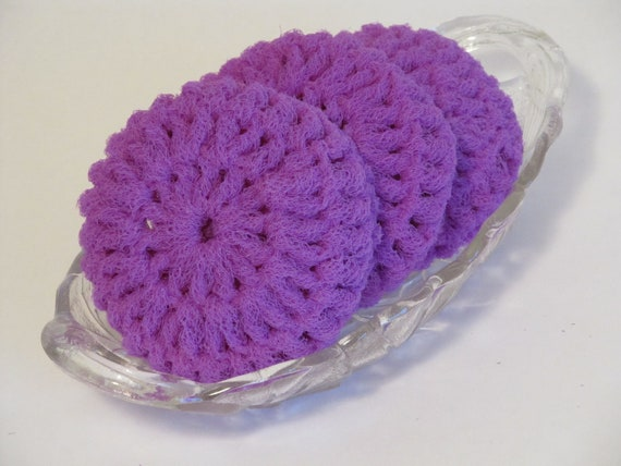 Free Crochet Patterns For Nylon Net Scrubbies : Dish Scrubbies Made of Nylon Net by InsideSandysShop on Etsy