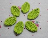 Crochet Leaves (6 pcs)