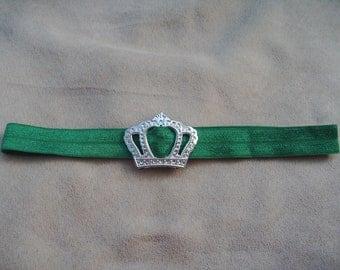Pet Collar - Princess Crown Collar - Show collar - Dog/Cat Collar - Green Collar