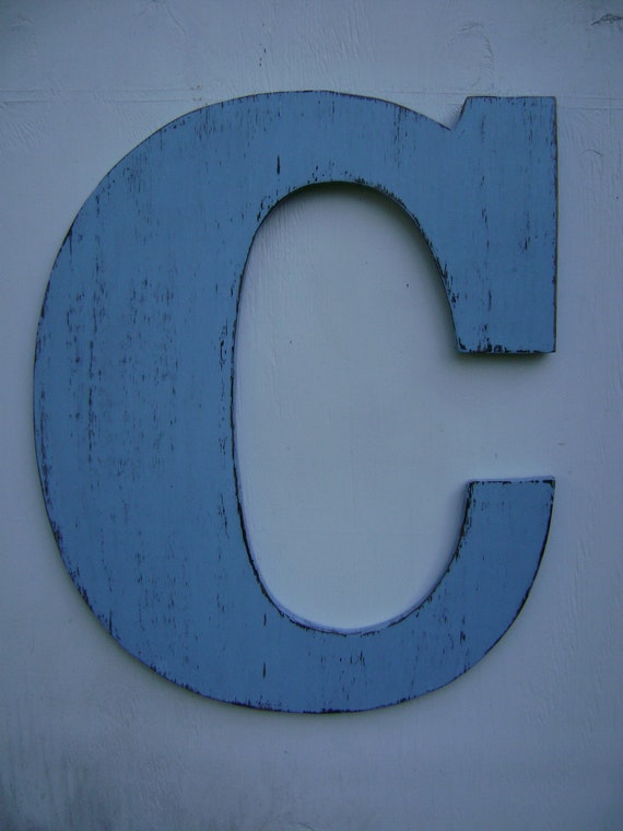 large wooden letter c shabby chic rustic by unclejohnscabin With large wooden letter c