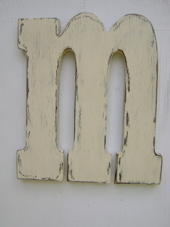 wood block letters shabby chic letter wedding sign -letter sign handmade and handpainted