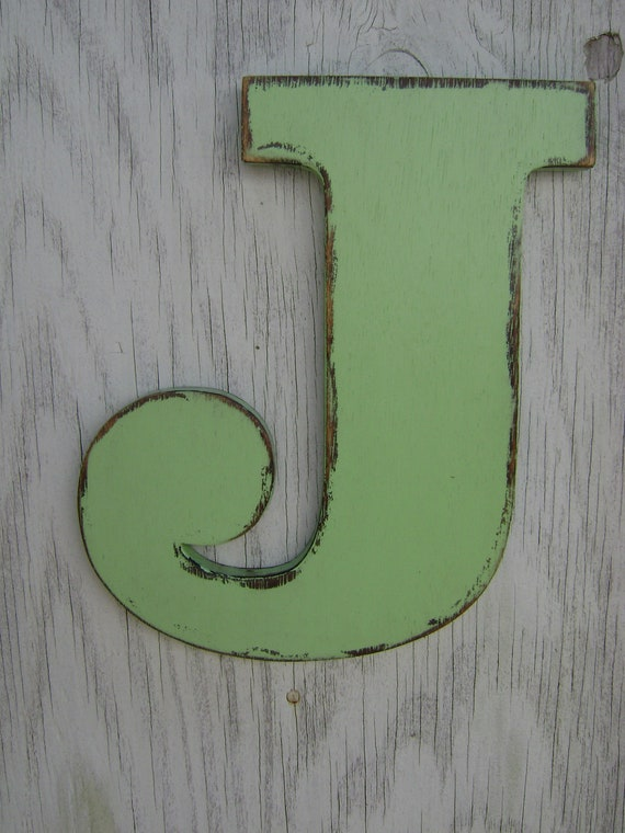 Items similar to wall letter j wood sign decor cottage for J letter decor