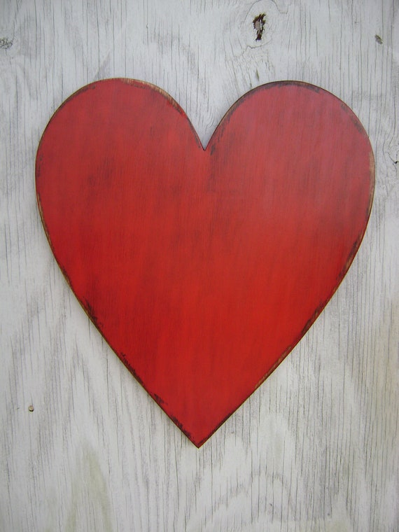 Items similar to large wooden heart wedding engagement for Wooden heart wall decor