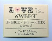 Personalised Sweet/Candy Buffet Sign (Unframed)