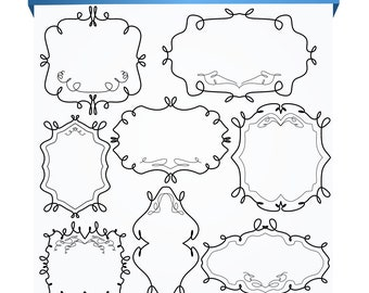 Digital Clip Art...Frames Clipart... Doodle Frames Clip art...Clip art BUY 1 GET 1 FREE