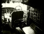 "Vintage World War II Airplane Cockpit 3, Aviation Photo, 10""x10"" Photograph, Vintage Airplane, Vintage Aircraft, Airplane Decor"