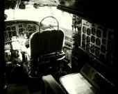 """Vintage World War II Airplane Cockpit 3, Aviation Photo, 10""""x10"""" Photograph, Vintage Airplane, Vintage Aircraft, Airplane Decor"""