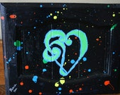 Music in the Heart- Upcycled repurposed cabinet door