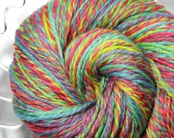 Handspun Yarn - Confetti - Falkland Wool, Worsted Weight, 495 yards