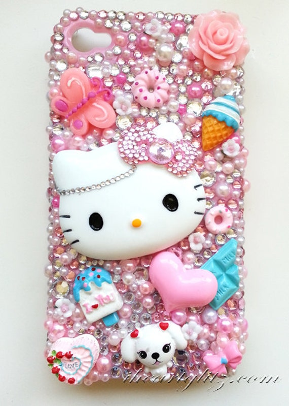 kawaii iphone 5 case iphone 4 4s pink kawaii girly deco phone 15599