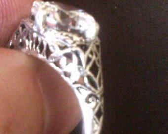 Edwardian Era Reproduction Wedding/Engagement Ring