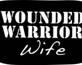 """Wounded Warrior Wife dog tag 8"""""""