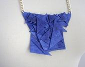 E T E R N I T Y /Blue geometric leather necklace