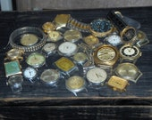 Huge Steampunk Supply Destash Lot of watches, crystals, fobs, bands, etc.
