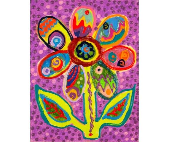 Children S Party Box Wall Art For Girl S Bedroom: Items Similar To Girls Room Decor, Flower Print, Purple