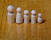 Custom Peg Doll Family of 6