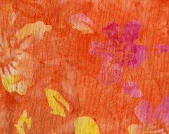 Orange Flowers Punch Batik