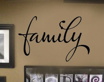 FAMILY picture wall display Vinyl Wall Lettering sayings Decal