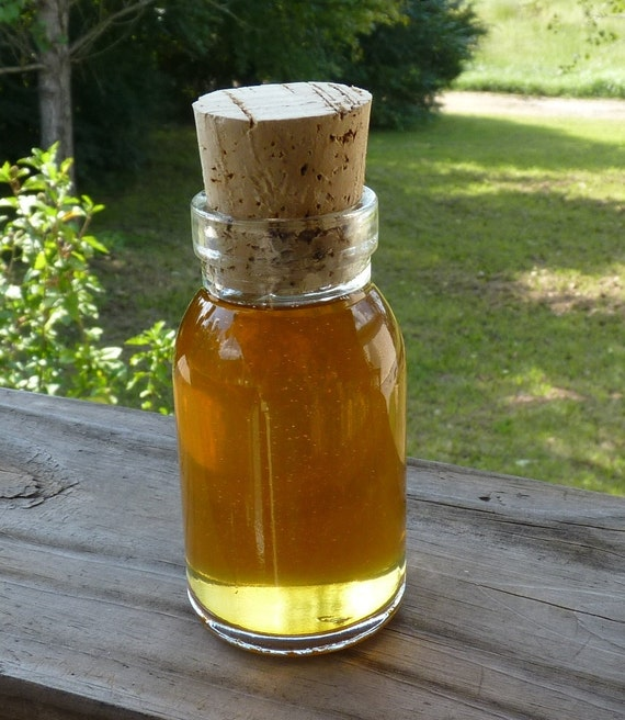 Raw Wildflower Honey Rustic Antique Style Milk Bottle Glass