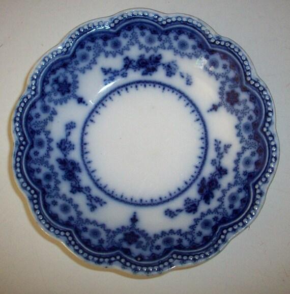 Vintage Blue Flow Dorothy Plate Saucer Johnson Brothers Blue Flow China Plate Saucer