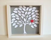Alternative 3D Wedding Guestbook Tree or Gift - XS Unique Wedding Guestbook for Weddings up to 65 guests (Includes Instruction Card and Pen)