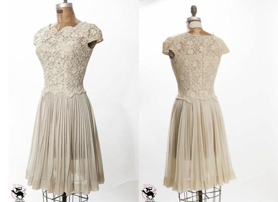 Exquisite vintage Carlye  1950s organdy summer wedding bridesmaid party dress