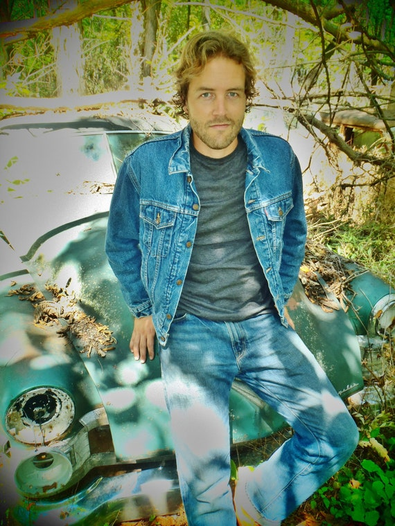 Men's Vintage Wool-Lined Levi's Denim Jacket Size 42