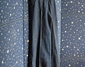 VINTAGE fantastic swing trousers 40s 60 cotton chambray size XS/S