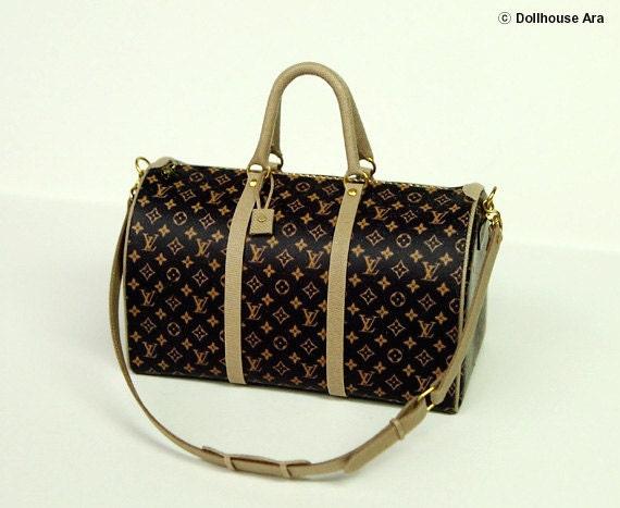LV Ooak Designer Travel Luggage bags 1/12 Dollhouse Miniatures handmade (L2)