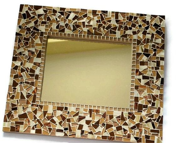 Brown Mosaic Wall Mirror