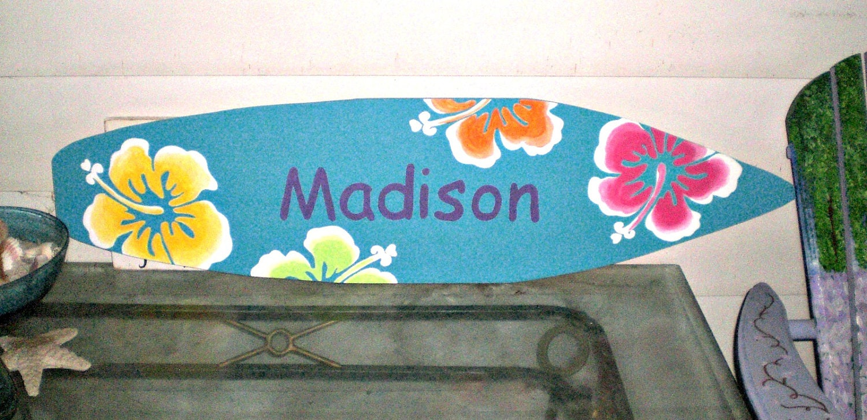 4 foot surfboard wall art hawaiian beach decor wall hanging zoom amipublicfo Image collections