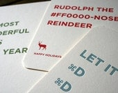 Letterpress Holiday Cards for Graphic & Website Designers (Set of 3)