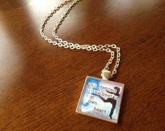 Glass Tile Necklace - Dancer
