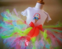 Neon Social Petti Tutu - Made To Order ALL GILRS SIZES Newborn Infant Toddler 1 2 3 4 5 6 7 8 9 10 12 years Coral Turquoise Pink Green