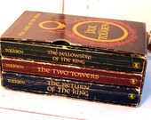 Tolkien, Lord of the Rings Trilogy, Fellowship of the Ring, Two Towers, Return of the King boxed set,Canadian edition